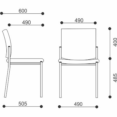 Chicago Stackable Visitor Chair