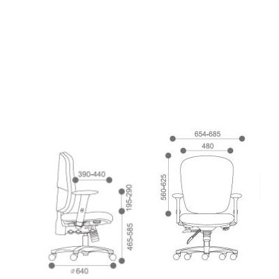 Origin Big Boy Upholstered Task Chair