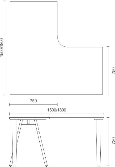 Madera Timber Leg Complete Workstations