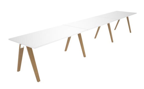 Madera Timber Leg Linear Complete Desks