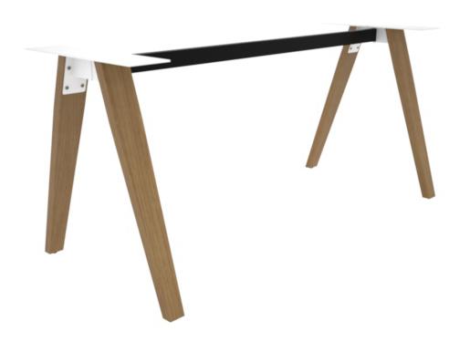 Madera Timber Leg Single Desk Frame Only