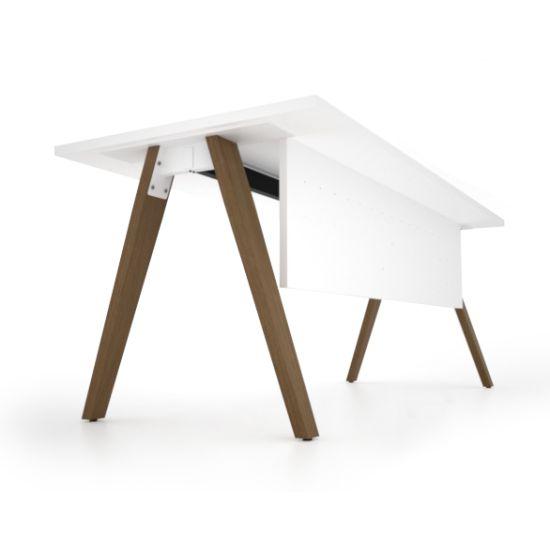 Madera Timber Leg Single Complete Desk