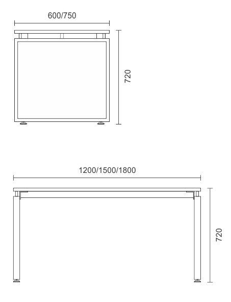 Horizon Single Complete Desk