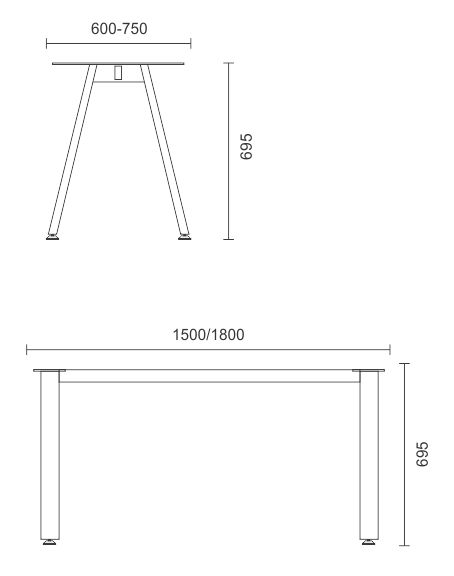 Proton/Venus Single Desk Frame Only