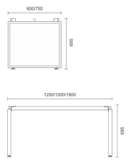 Horizon Single Desk Frame Only